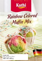 Rainbow Colored Muffin Mix